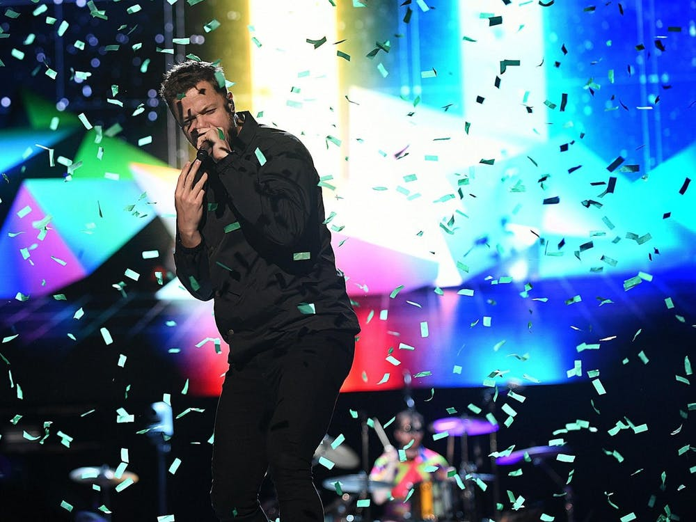 """Imagine Dragons performs August 4, 2019 at the Pro Football Hall of Fame Concert for Legends. The band won a Grammy in 2014 for """"Best Rock Performance"""" for """"Radioactive."""""""