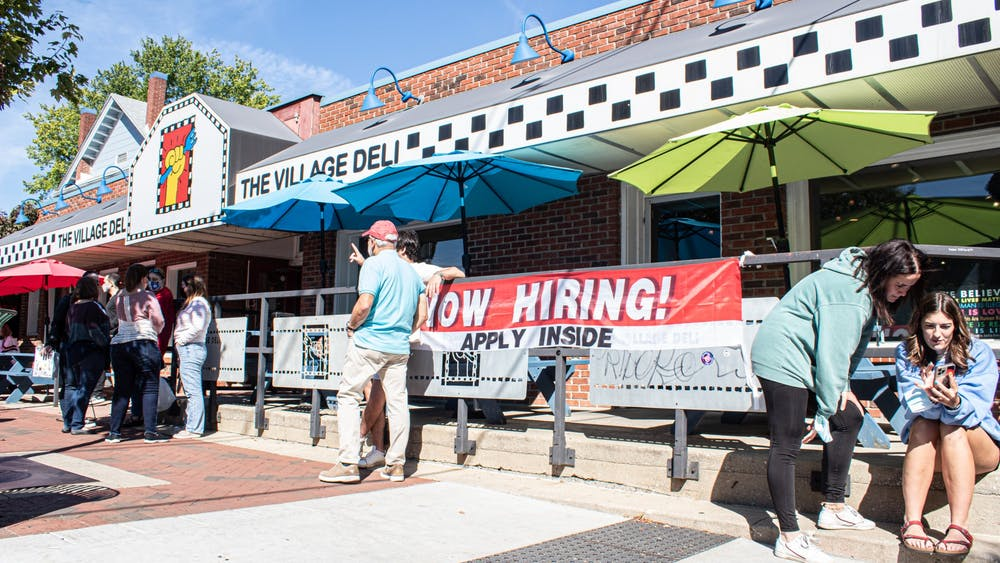 The Village Deli is seen Sept. 26, 2021, on Kirkwood Avenue. The resteraunt reopened Sept. 17, 2021, after being closed since late July due to labor shortages.