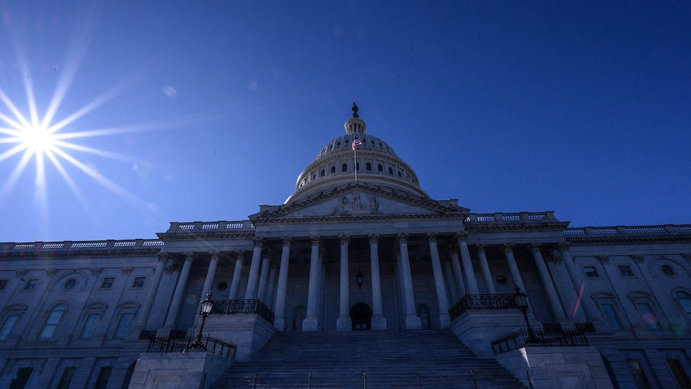 The sun shines over the U.S. Capitol Building on Nov. 1 in Washington, D.C.