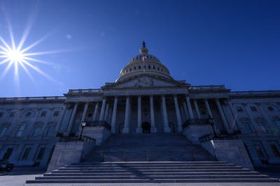 The sun shines over the US Capitol Building on Nov. 1 in Washington D.C.
