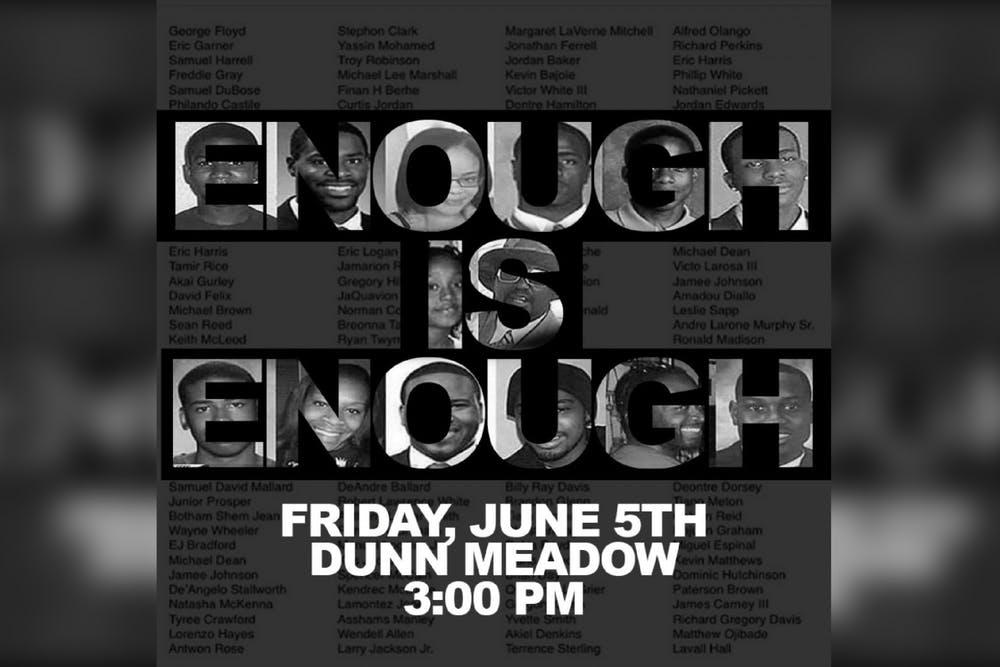 <p>A protest is planned for Friday, June 5 at 3:00 p.m. in Dunn Meadow. Protests are happening regularly across the country in response to the killing of George Floyd May 25 by Minneapolis police.</p>