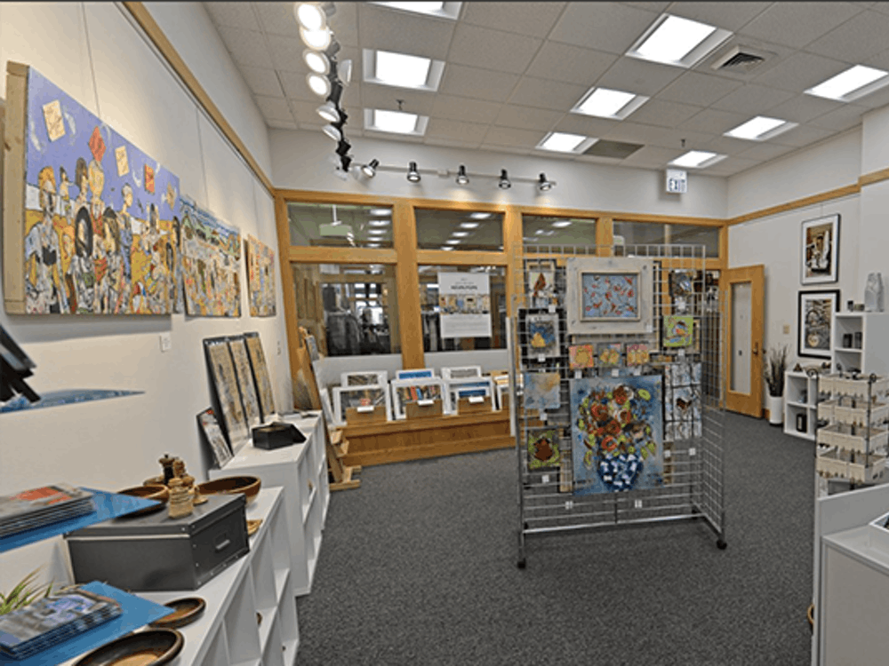 The Gallery at Spectrum Creative Group holds a collection of art and gifts including jewelry, photography, sculptures, pottery, wood and digital art. They showcase a variety of both emerging and established artists.