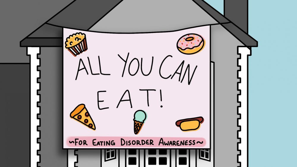 Delta Phi Epsilon put on an event including an all-you-can-eat buffet to raise awareness for eating disorders.
