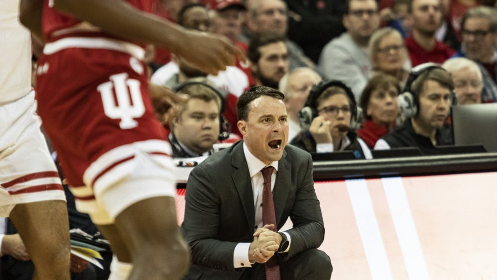Archie Miller yells Dec. 7, 2019, in Kohl Center at Madison, Wisconsin. Miller was fired Monday after four seasons as IU men's basketball's head coach.
