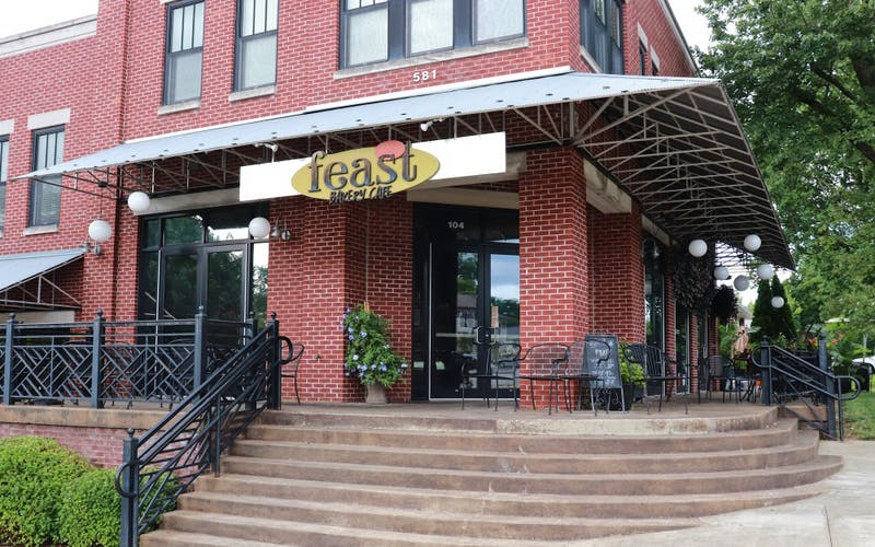 Feast Bakery Cafe is a bakery located at 581 E Hillside Dr. The bakery sells pastries along with breakfast, lunch and dinner items.