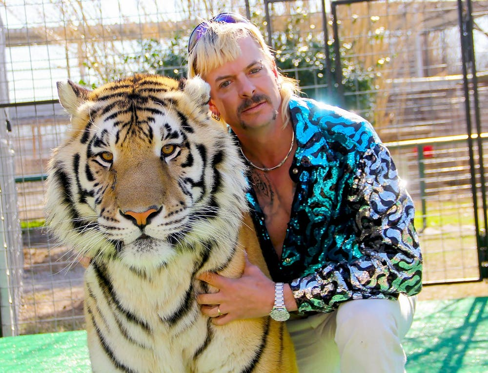 <p>&quot;Tiger King&quot; star Joe Exotic poses for a photo. Timothy Stark, &quot;Tiger King&quot; star and owner of Wildlife in Need animal sanctuary, is no longer allowed to own exotic or native animals, according to an Indiana court ruling released April 7. </p>