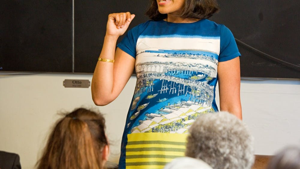 Shahzeen Attari speaks at The Interval for the Long Now Foundation on June 26. Shahzeen was featured on a list of 10 scientists under 40 to watch published by Science News last month.