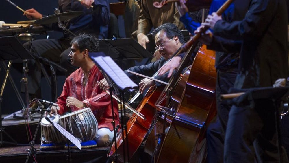 World-renowned cellist Yo-Yo Ma performs with The Silk Road Ensemble on Monday night at a sold out IU Auditorium. Members of The Silk Road Ensemble not only come from different countries, but they also play instruments unique to their nations,