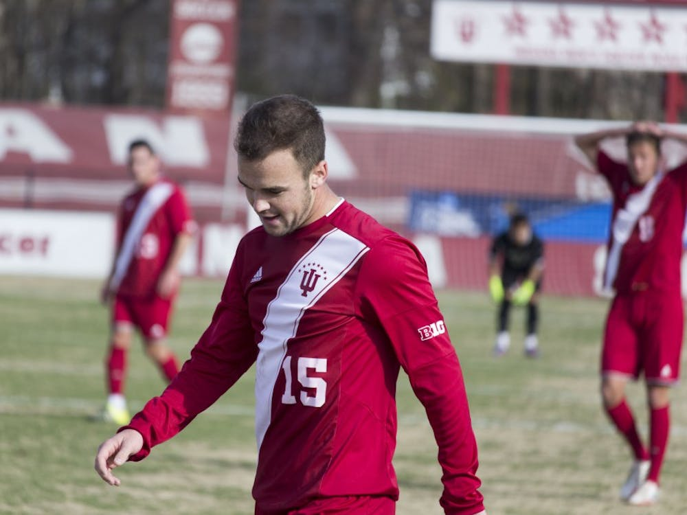 Then-sophomore defender Andrew Gutman, now a junior, walks the field during a 2016 NCAA Tournament loss against Virginia Tech at Bill Armstrong Stadium. Gutman was named to College Soccer News' National Team of the Week on Monday.