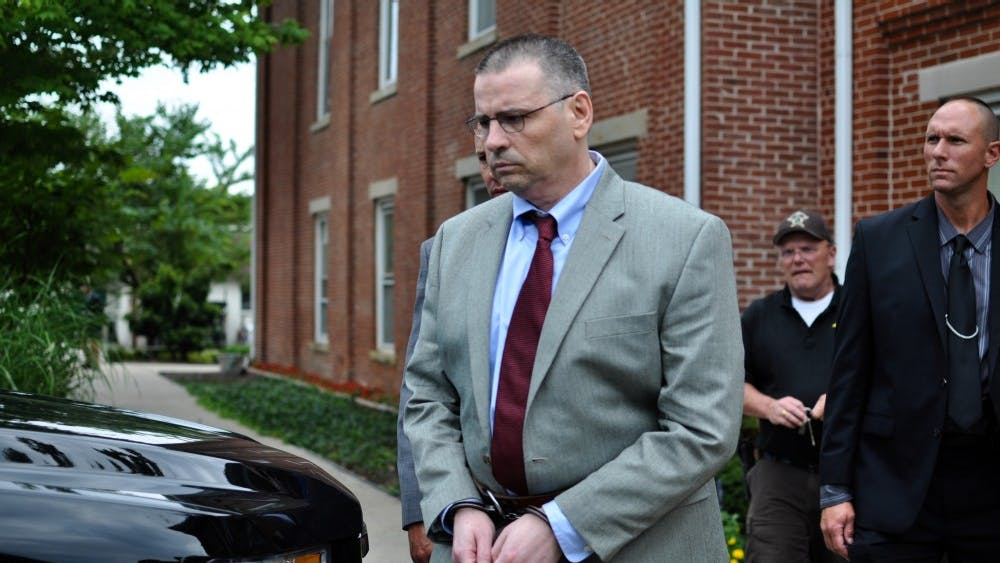 Daniel Messel leaves the Brown County courthouse after being convicted of the murder of Hannah Wilson and being found a habitual offender. Recently, he was charged with the 2012 rape of another IU student.