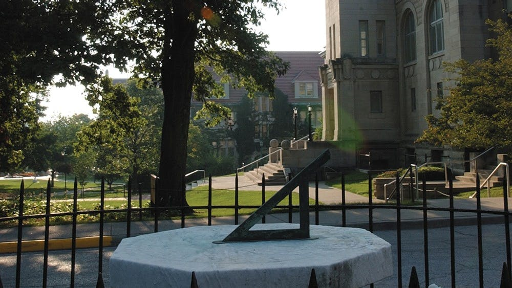 The sundial can be found beside Maxwell Hall. It was first displayed in 1868 and was moved to Dunn's Woods in 1896.