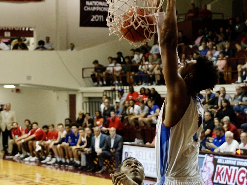 Trayce Jackson-Davis dunks the ball during the Indiana All-Stars versus Kentucky All-Stars game June 7 at Bellarmine University. Jackson-Davis scored 16 points in the victory.