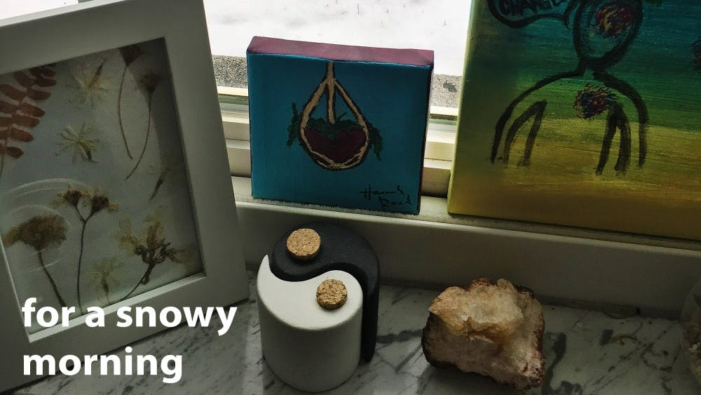 """""""For a snowy morning"""" is a Spotify playlist made to listen to on a snowy day."""