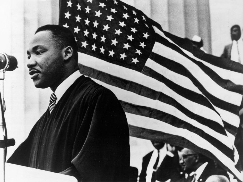 Martin Luther King Jr. speaks Jan. 1, 1960, in Washington, D.C. This year's keynote speaker for IUnity Summit is Tamika Catchings, a former WNBA player.