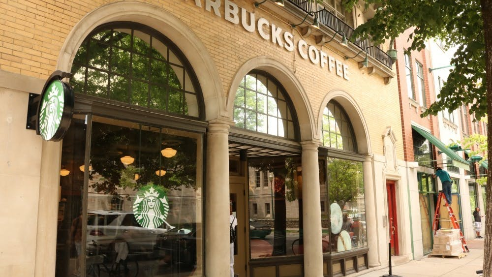 The Starbucks on Indiana Avenue is pictured.