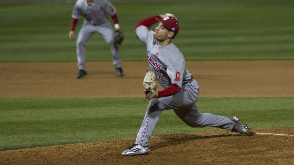 Pitcher Cal Krueger was one of the four relievers to pitch for IU against Purdue on April 25. Krueger is playing for the Harwich Mariners this summer.