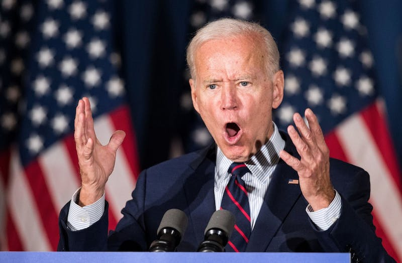 Democratic presidential candidate and former Vice President Joe Biden speaks during a campaign event Oct. 9 in Rochester, New Hampshire. For the first time, Biden has publicly called for President Donald Trump to be impeached.