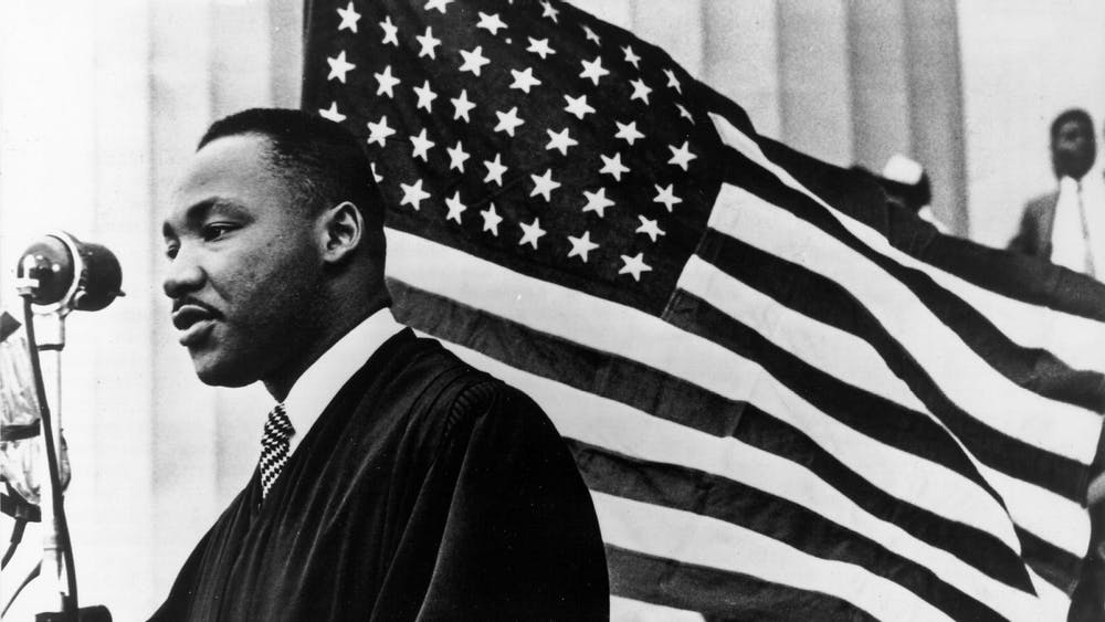 Martin Luther King Jr. speaks Jan. 1, 1960, in Washington, D.C.