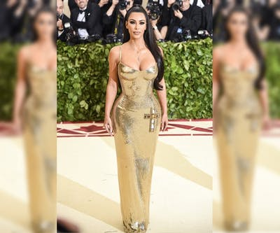 Kim Kardashian-West attends the Heavenly Bodies: Fashion and the Catholic Imagination Costume Institute Gala 2018 on May 7, 2018 at the Metropolitan Museum of Art in New York.