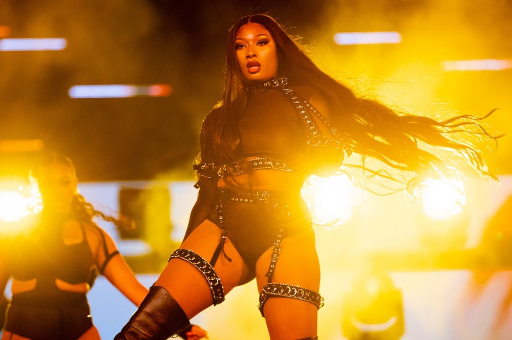 <p>Megan Thee Stallion performs onstage during day two of &quot;Red Rocks Unpaused&quot; 3-Day Music Festival presented by Visible at Red Rocks Amphitheatre on Sept. 2 in Morrison, Colorado.</p>