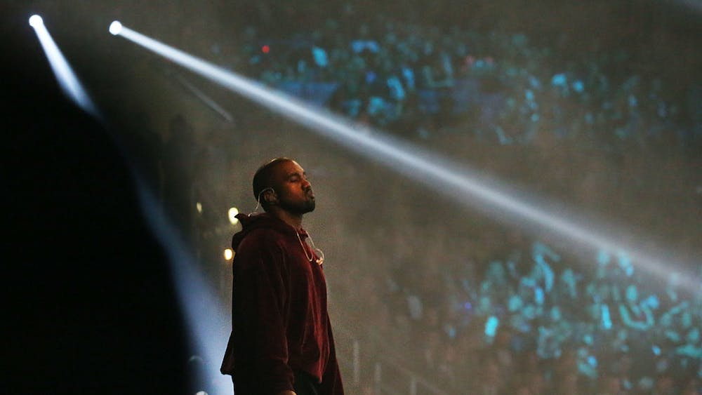Kanye West performs at the 57th Annual Grammy Awards Feb. 8, 2015 at the Staples Center in Los Angeles.
