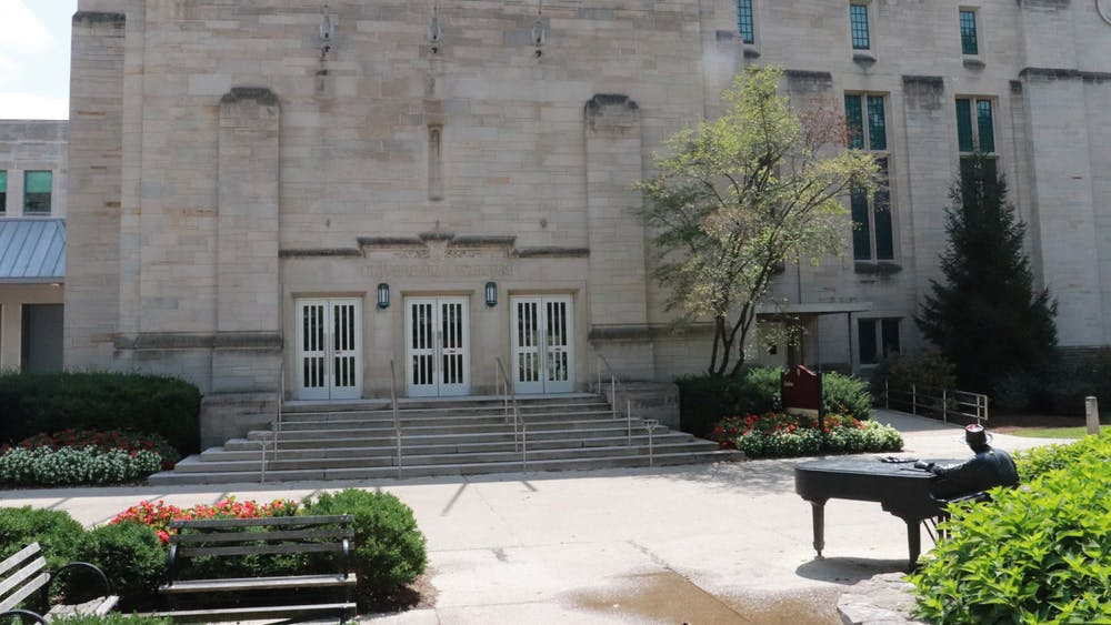 """The IU Cinema building is an art and film cinema located at 1213 E 7th St.IU Cinema released its January 2020 schedule which included films such as """"9 to 5,"""" """"Making Waves"""" and """"Widows."""""""