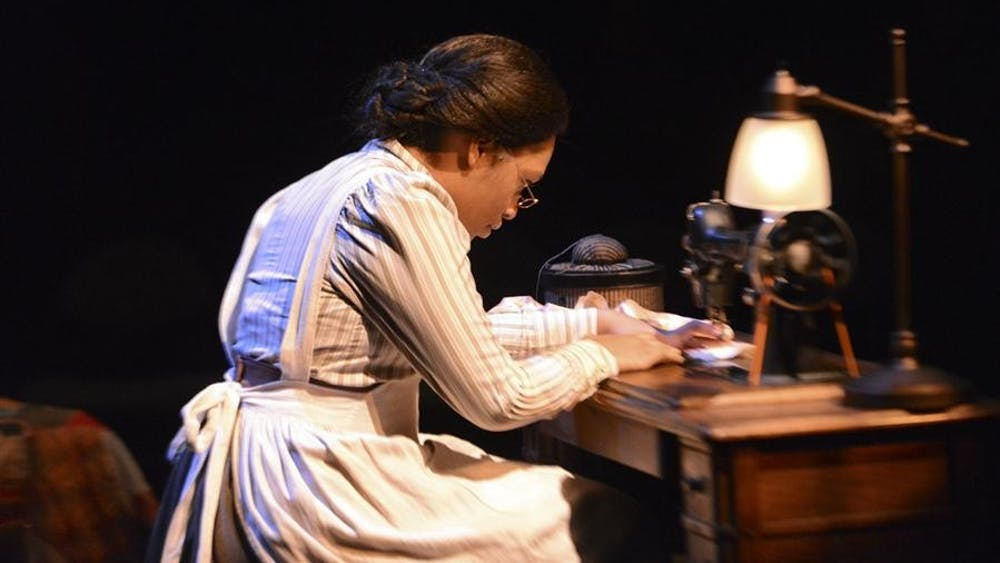 """Jessica Turner plays the role of Esther in IU Theatre's production of """"Intimate Apparel"""" on Jan. 30, 2013"""