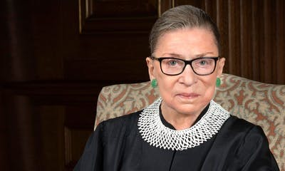 Supreme Court Justice Ruth Bader Ginsberg poses for a photo.