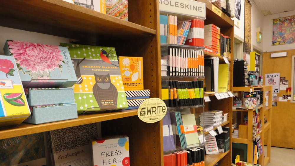 The COVID-19 pandemic has made a typical day in the Friends of Art Bookshop less busy than in previous years. The shop must operate at limited customer capacity, and there are fewer people on campus this year.