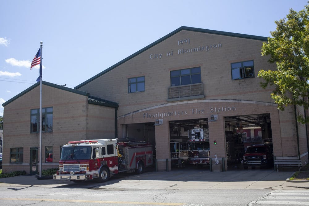 <p>A City of Bloomington Fire station is seen Aug. 28, 2020, on E. Fourth St. BFD&#x27;s rating from the ISO increased for the second time since 2016.</p>