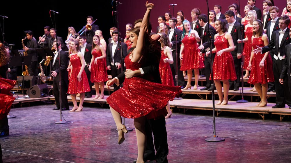 """The Singing Hoosiers a cappella group performs its 2019 spring concert. Singing Hoosiers will perform """"Hoosiers Live At Home"""" 6-8 p.m. Sunday on WFIU."""