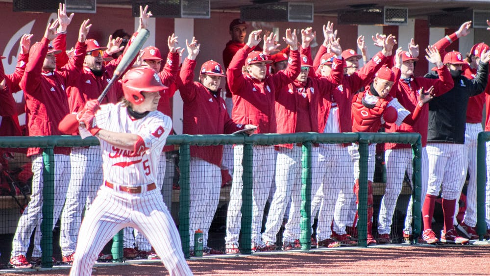 Freshman infielder Paul Toetz steps up to bat March 19 at Bart Kaufman Field. The Hoosiers won two of three games against the Michigan State Spartans this weekend.