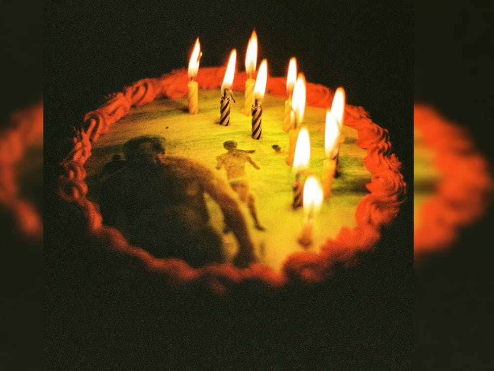 """The album cover for Ratboys' """"Happy Birthday, Ratboy"""" features a birthday cake with burning candles. The band released the surprise album April 1."""