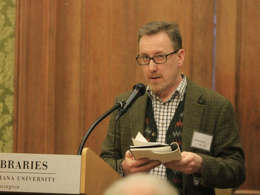 """Bookseller Jonathan Kearns reminisces on his first time reading """"Frankenstein."""" In his talk at the Lilly Library on Thursday, he discussed the origins of """"Frankenstein"""" and the eccentricities of Mary Shelley's circle of friends."""