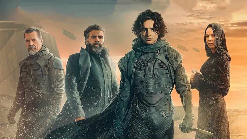 "Timothée Chalamet, Rebecca Ferguson, Josh Brolin and Oscar Isaac star in ""Dune,"" which premieres Oct. 22, 2021."