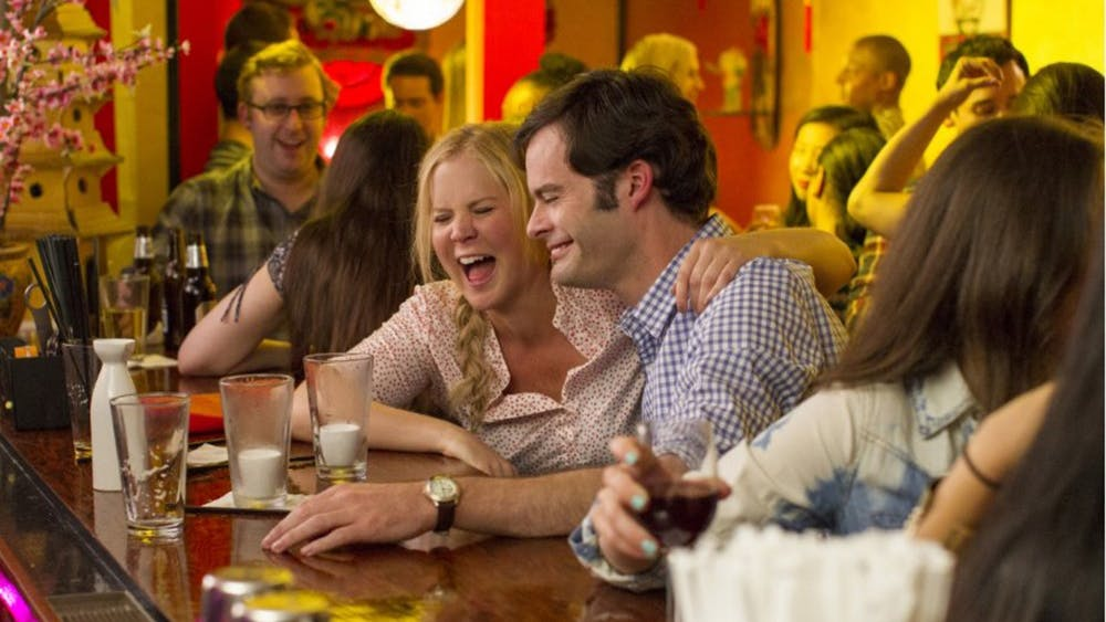 """Bill Hader and Amy Schumer in """"Trainwreck."""" (Universal Pictures)"""
