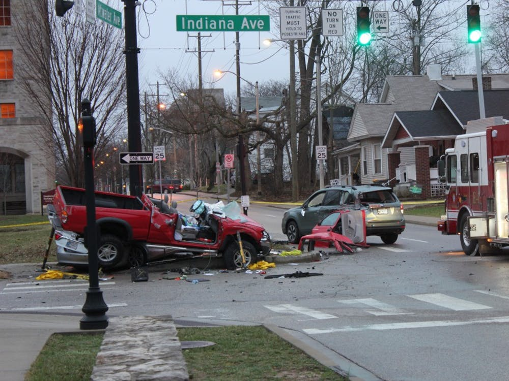 A five-car accident Wednesday evening blocked the intersection of Atwater Avenue and Henderson Street for hours. Police say the driver of the red truck was found to be heavily intoxicated.