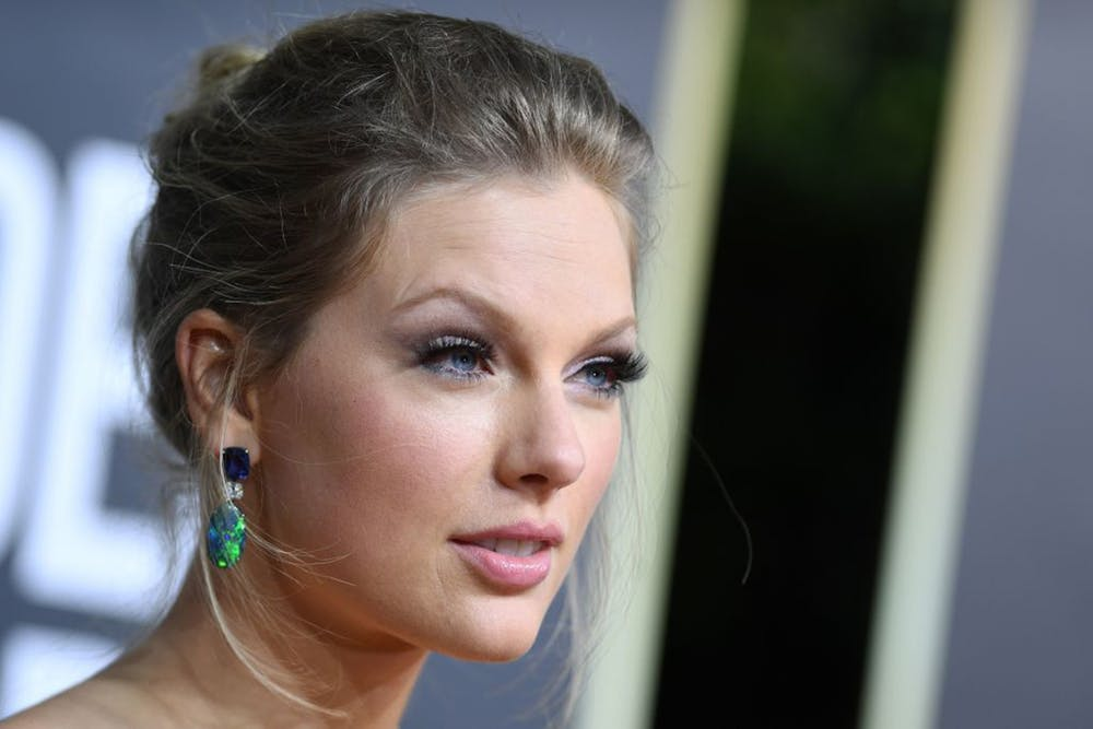 Taylor Swift arrives for the 77th annual Golden Globe Awards on Jan. 5, 2020, at The Beverly Hilton hotel in Beverly Hills, California.