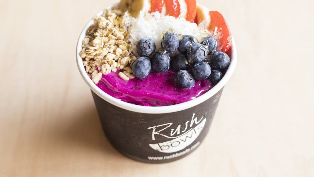 Smoothie bowls are a menu option at new Bloomington restaurant Rush Bowls.