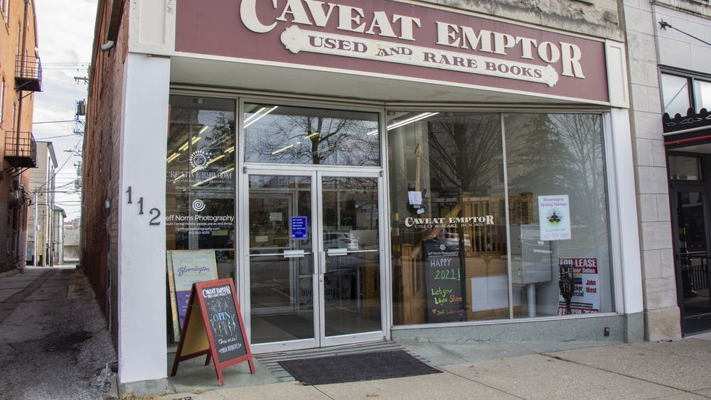 Caveat Emptor Used and Rare Books is located at 112 N. Walnut St. The store is local to Bloomington and has been open since 1971.