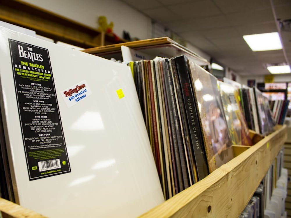 """The Beatles' record also known as """"The White Album"""" is sold at Tracks, located on Kirkwood Avenue. The album will celebrate its 50th anniversary Nov. 22."""