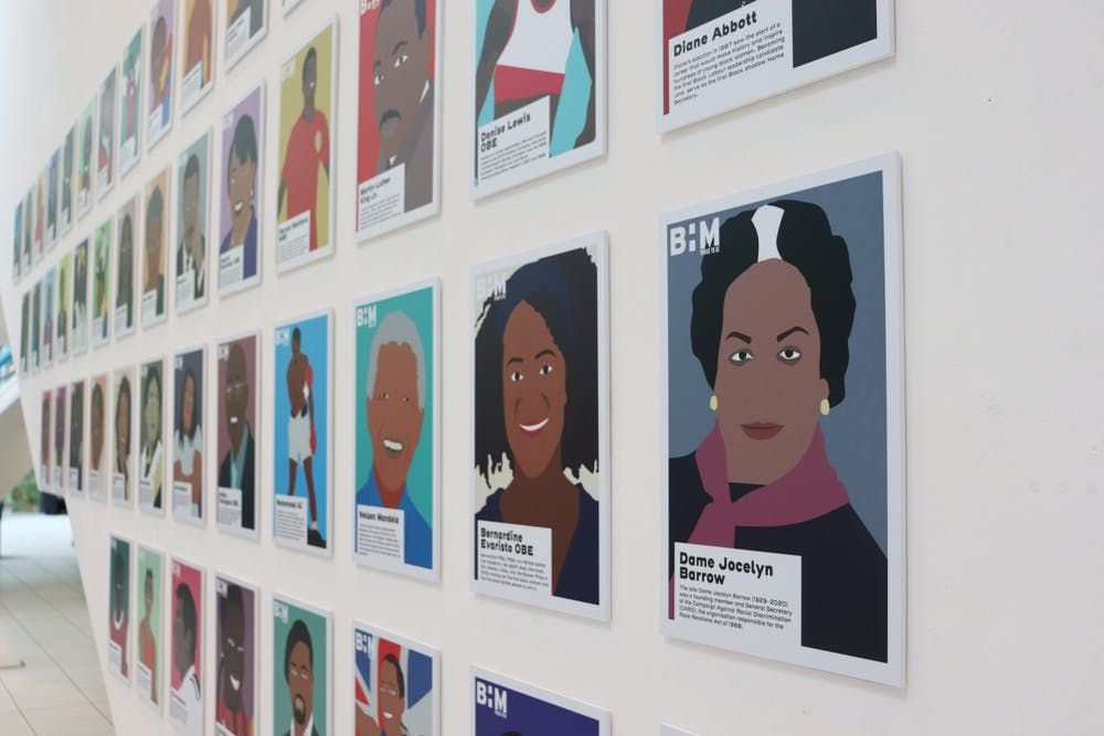 <p>Famous Black figures such as Maya Angalou, Malcolm X, Nelson Mandela and Muhammad Ali are honored at University of Kent's exhibition for Black History Month in the United Kingdom.</p>
