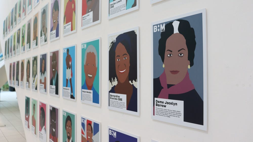 Famous Black figures such as Maya Angalou, Malcolm X, Nelson Mandela and Muhammad Ali are honored at University of Kent's exhibition for Black History Month in the United Kingdom.