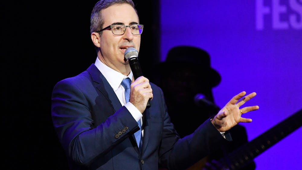 Comedian John Oliver performs Nov. 4, 2019, during the 13th annual Stand Up for Heroes to benefit the Bob Woodruff Foundation at the Hulu Theater at Madison Square Garden in New York City.