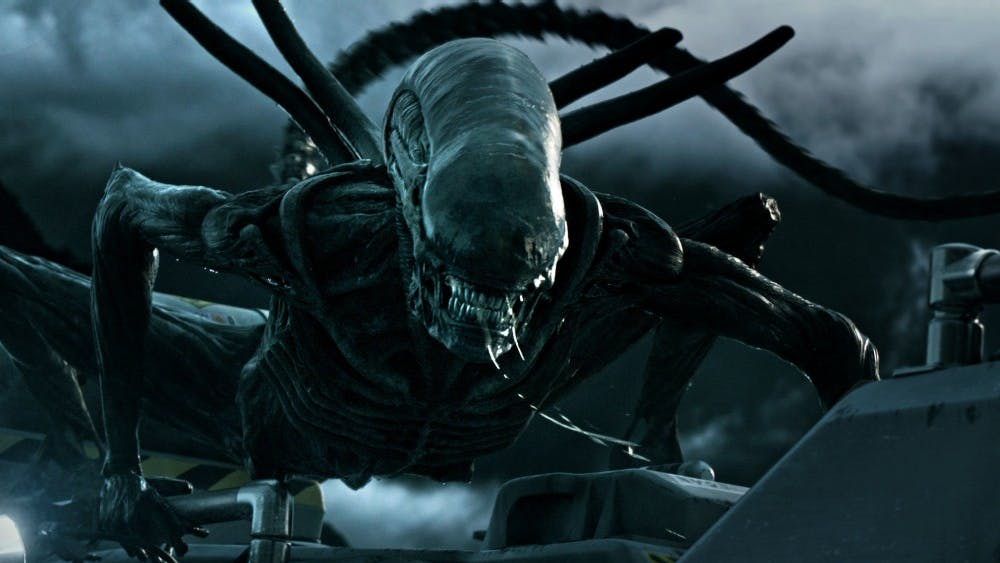 """A xenomorph attacks in """"Alien: Covenant,"""" the latest film in the 38-year-old sci-fi horror franchise."""
