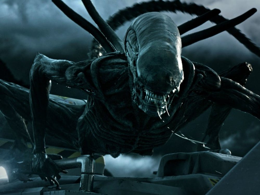 "A xenomorph attacks in ""Alien: Covenant,"" the latest film in the 38-year-old sci-fi horror franchise."