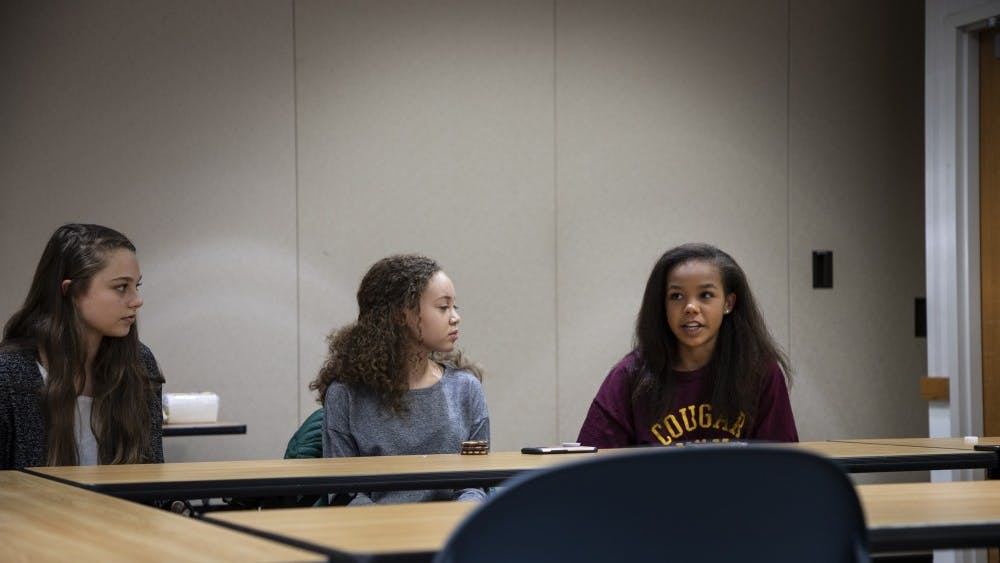 Bloomington High School North students address issues about the school system Sunday at the Monroe County Public Library. The roundtable meeting, which is moderated by the Monroe County Community School Corporation, welcomes local teens to join the conversation.