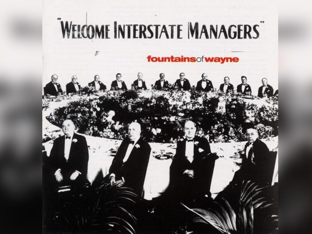 """The cover of Fountains of Wayne's album """"Welcome Interstate Managers"""" is pictured. The album includes """"Stacy's Mom"""" - the band's highest-charting hit in the U.S."""