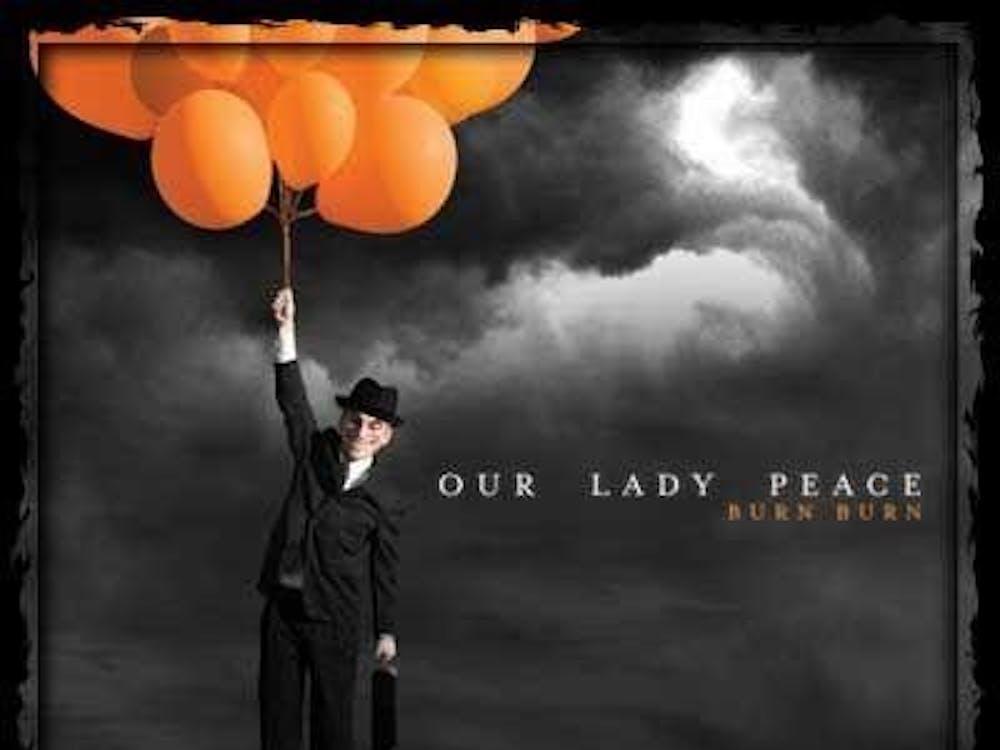 "Our Lady Peace's latest album, ""Burn Burn."""