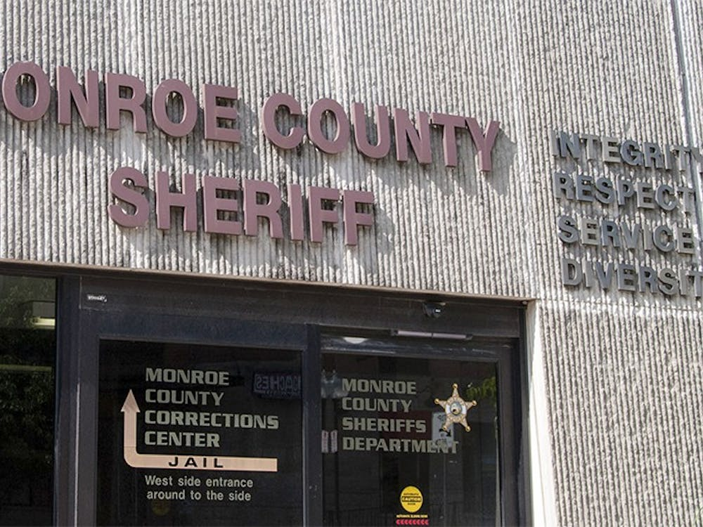 The outside environment of the Monroe County Sheriff Office, Indiana, on Tuseday afternoon.
